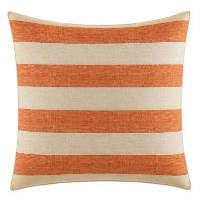 Palmiers Orange European Sham