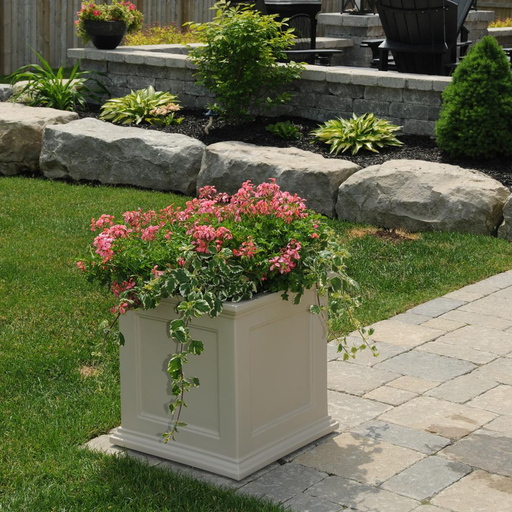 Mayne Fairfield 20 in. Square Clay Plastic Planter