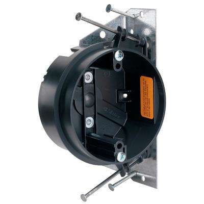 Slater New Work 4 in. Round Ceiling Fan Box with Integral Fan Mounting Bracket and Auto/Clamps
