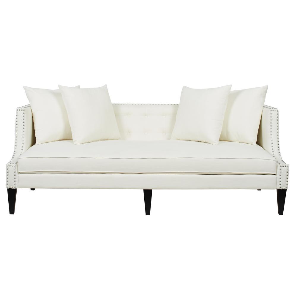 Caroline Antique White Sofa
