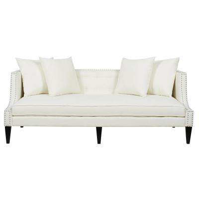 Caroline Antique White Sofa