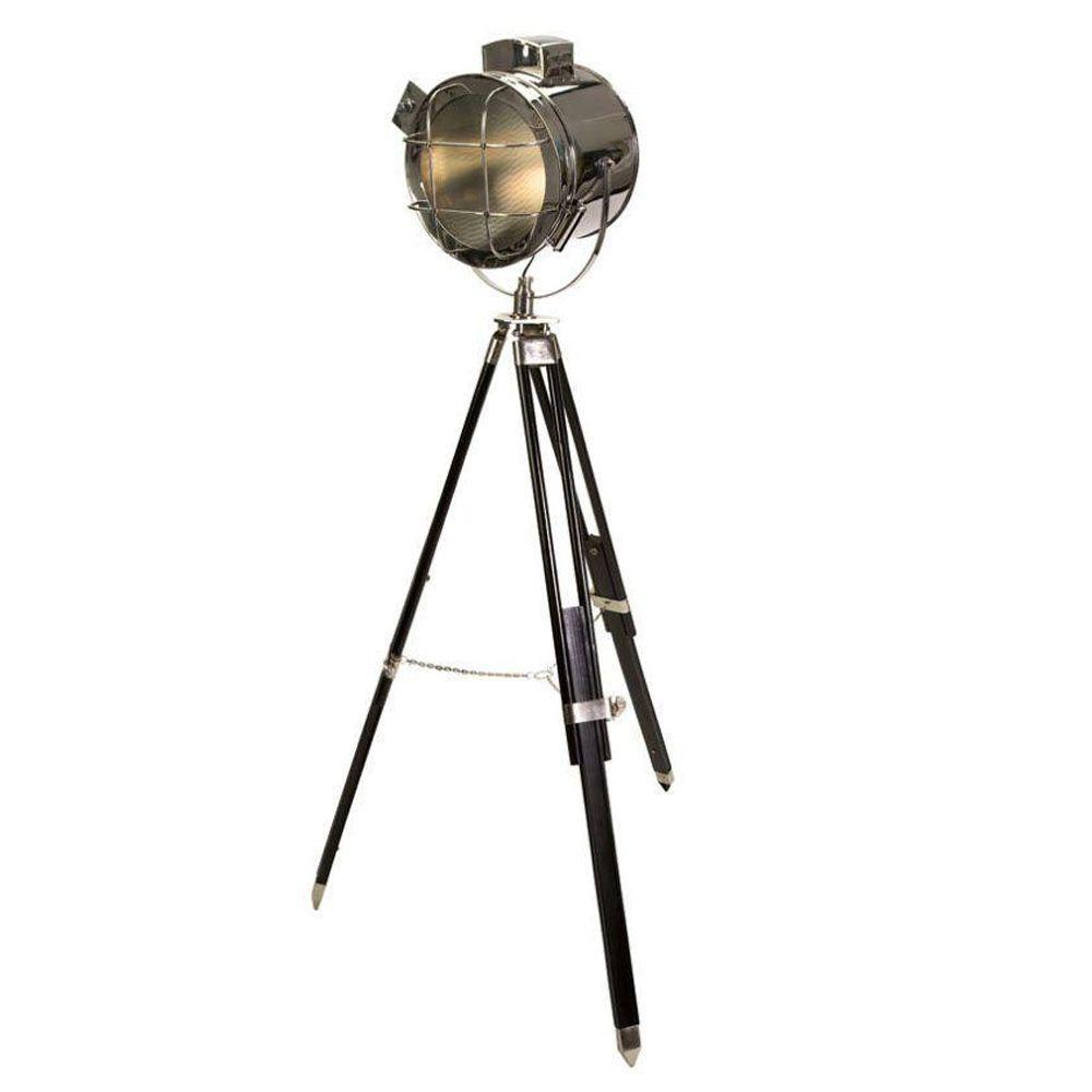 Home Decorators Collection Kaden 72.25 in. Silver/Black Spot Floor Lamp