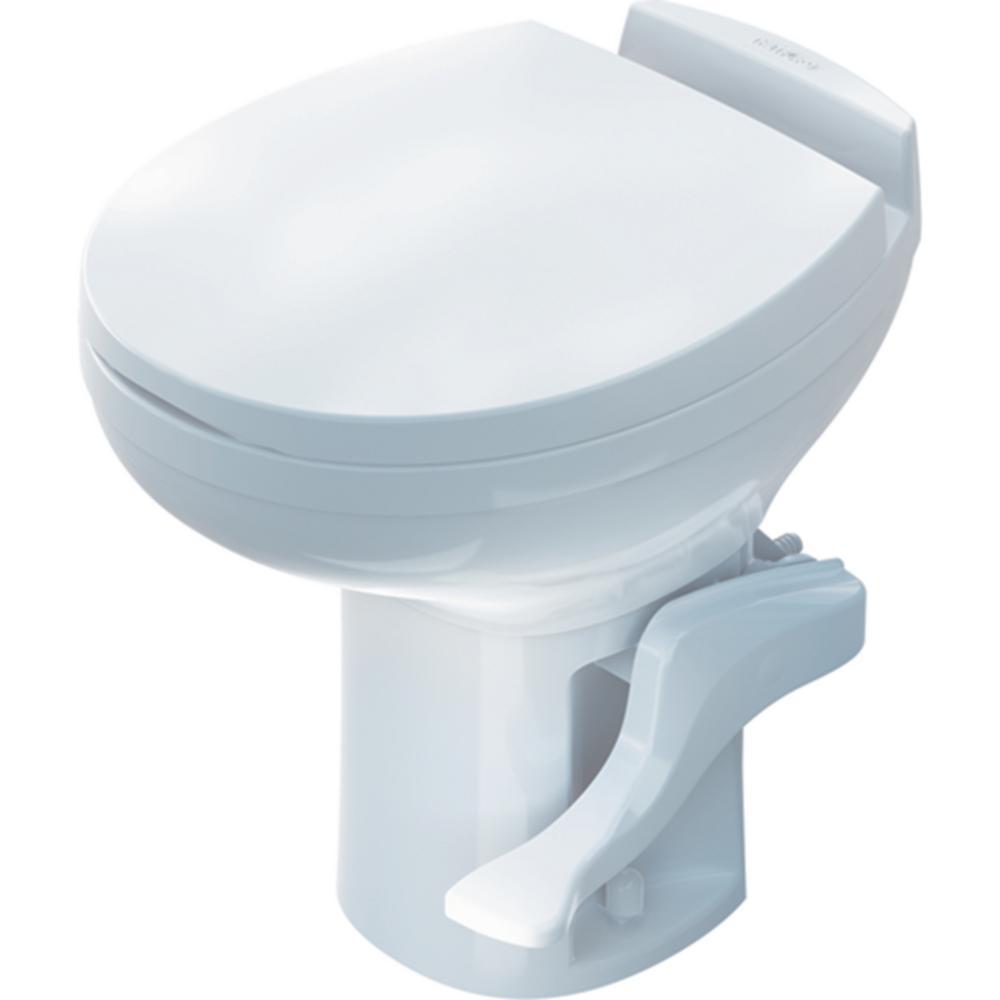 Aqua-Magic High Profile White Residence Portable Toilet