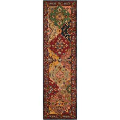 Heritage Red/Multi 2 ft. x 18 ft. Runner Rug