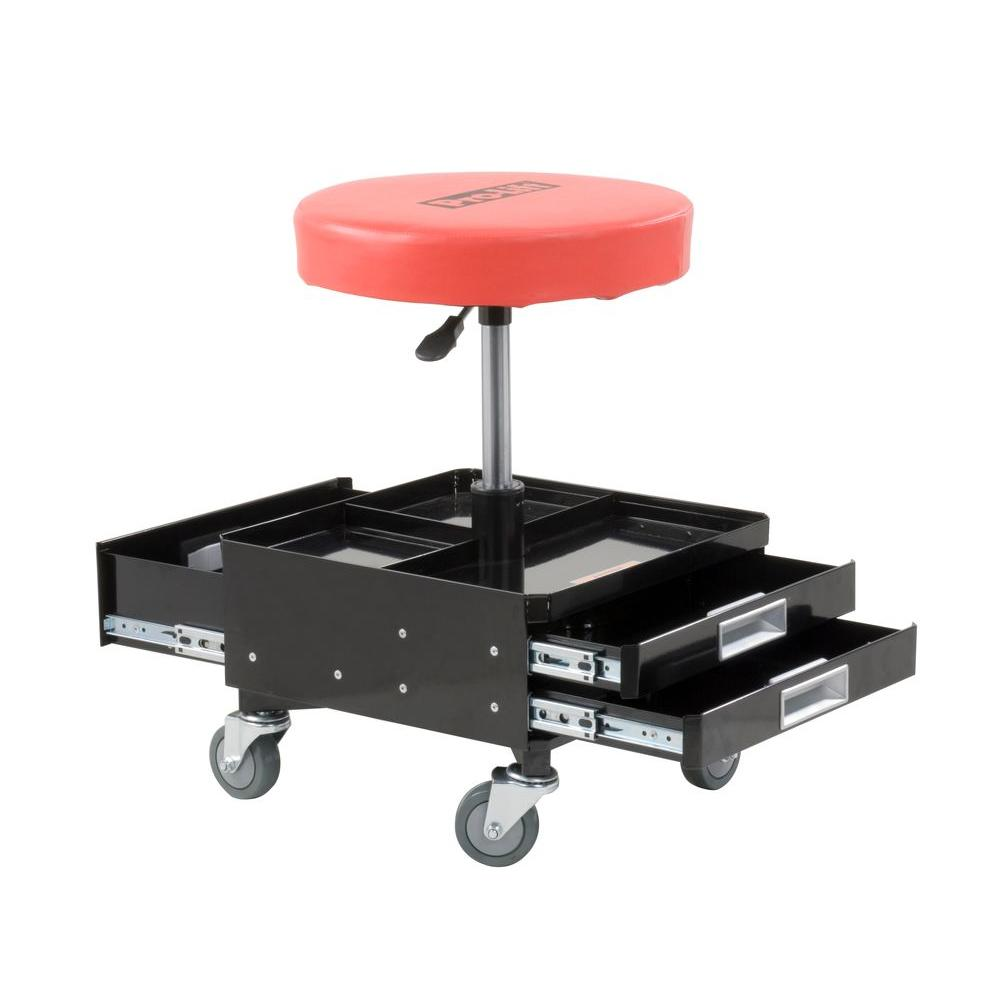 Shop Tools: Pro-Lift Pneumatic Chair With Dual Tool Trays-C-3100