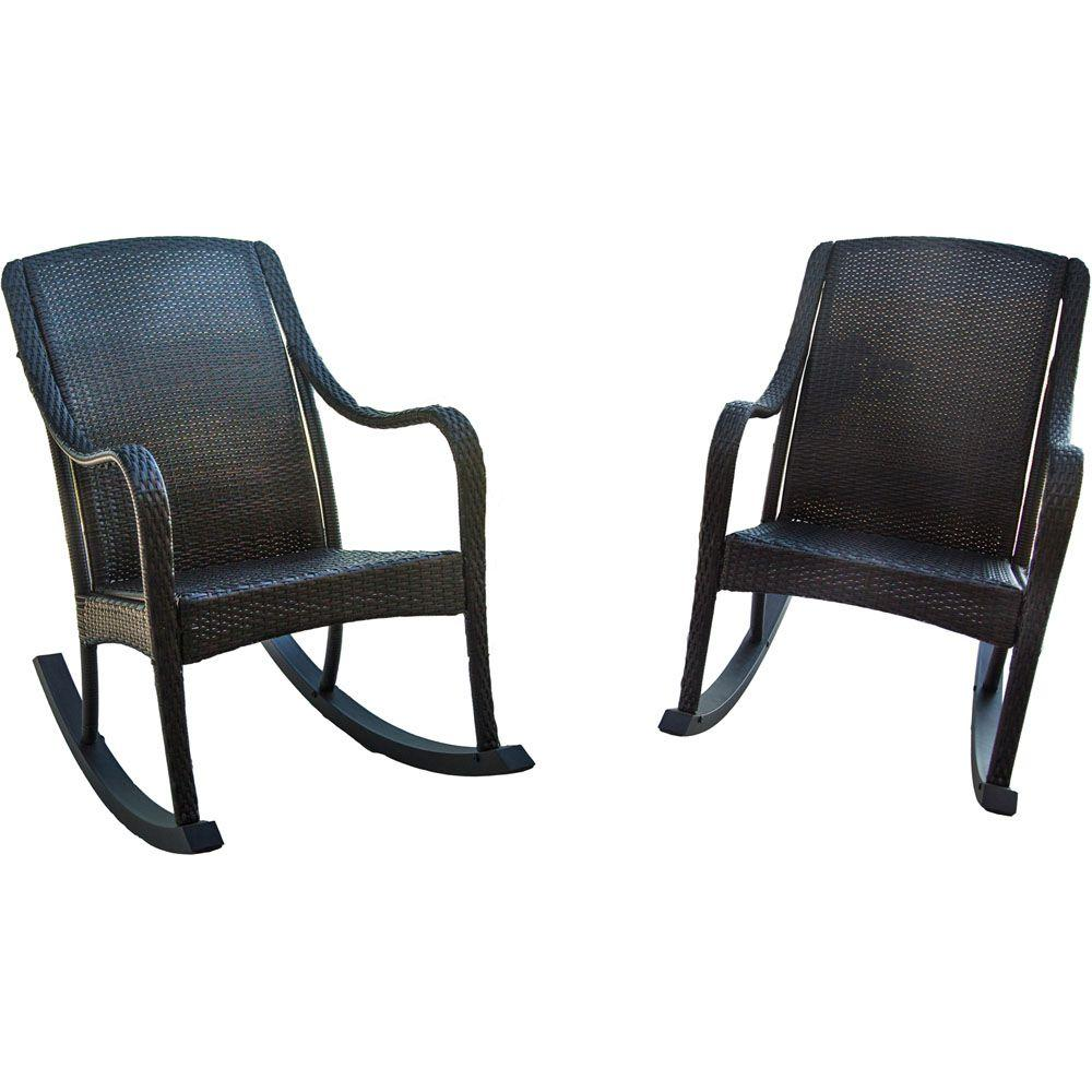 Hanover Orleans 2 Piece Rocking Patio Chair Set Orleans2pcrkr The