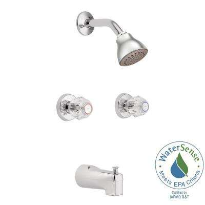 Chateau 2-Handle 1-Spray Tub and Shower Faucet in Chrome (Valve Included)
