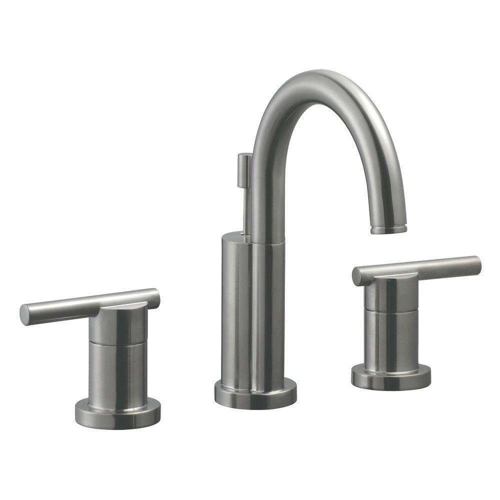 Geneva 8 in. Widespread 2-Handle Bathroom Faucet in Satin Nickel