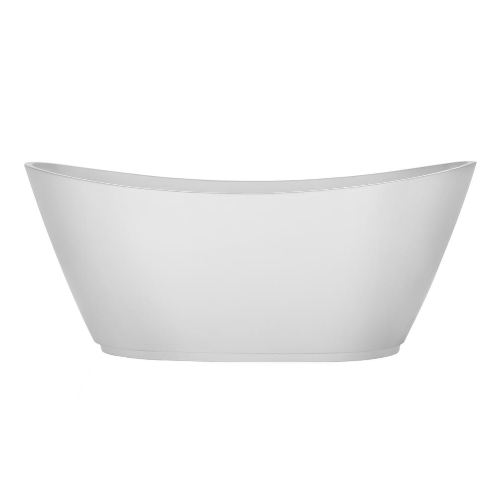 Acrylic Freestanding Bathtub Flatbottom Stand Alone Tub With Contemporary  Modern Design In