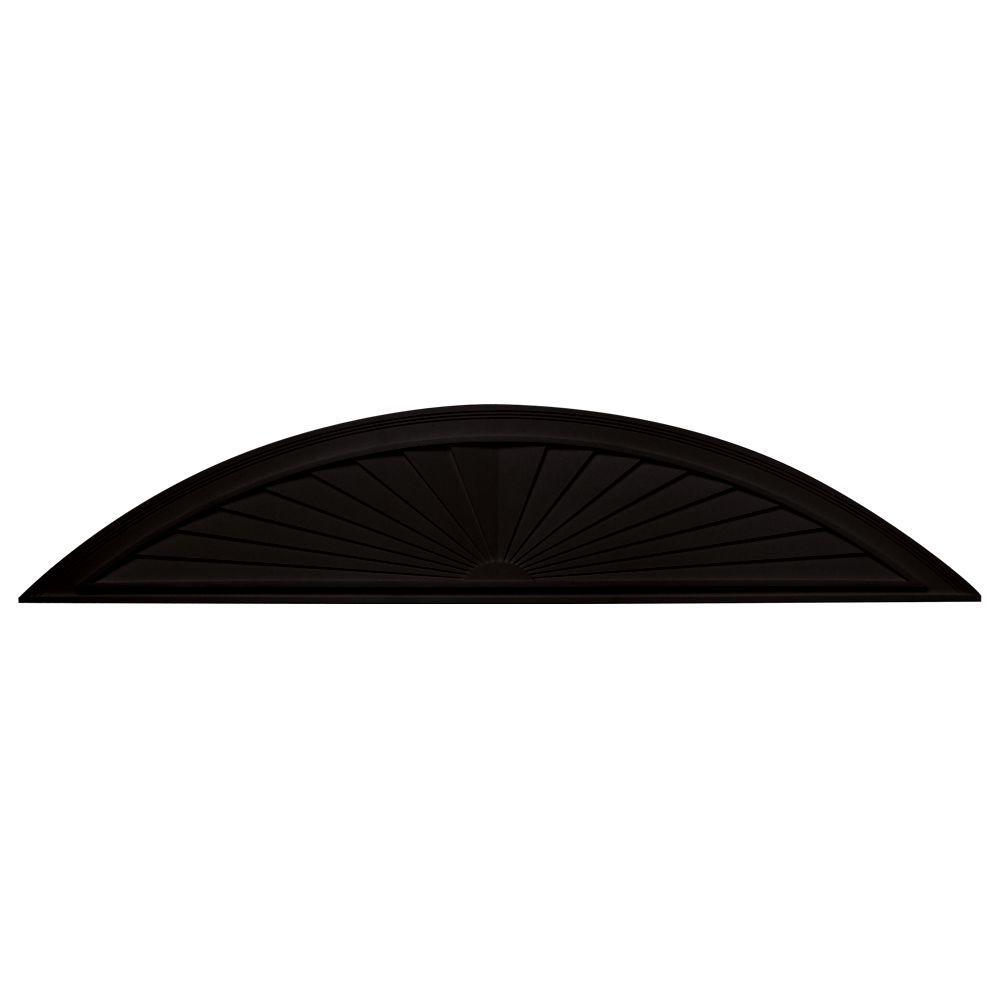 Builders Edge 73-5/8 in. Elliptical Sunburst in 002 Black-DISCONTINUED