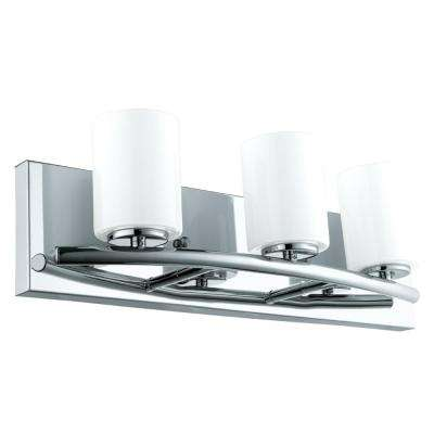 Abete 3-Light Chrome Bath Light