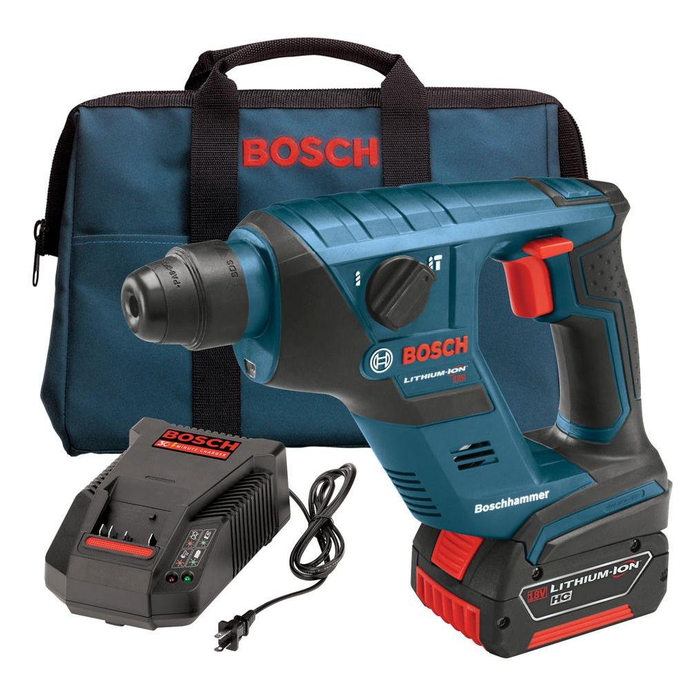 Bosch 18-Volt Lithium-Ion 1/2 in. SDS-Plus Compact Rotary Hammer Kit