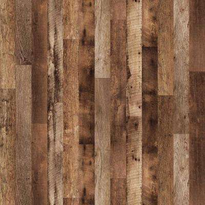 4 ft. x 8 ft. Laminate Sheet in Repurposed Oak Planked with Virtual Design SoftGrain Finish