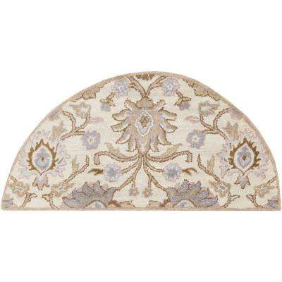 Cambrai Ivory 2 ft. x 4 ft. Hearth Indoor Area Rug