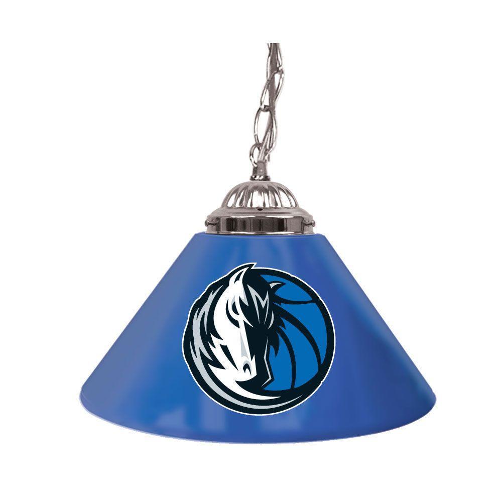 Dallas Mavericks NBA 14 in. Single Shade Stainless Steel Hanging Lamp
