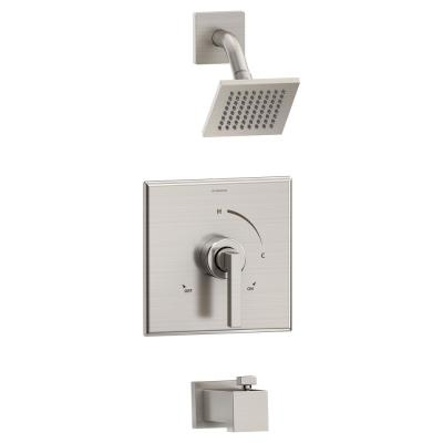 Duro Single Handle 1-Spray Tub and Shower Faucet Trim in Satin Nickel - 1.5 GPM (Valve not Included)