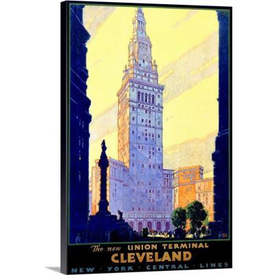 """16 in. x 24 in. """"Cleveland Union Train Terminal Vintage Advertising Poster"""" by ArteHouse Canvas Wall Art"""
