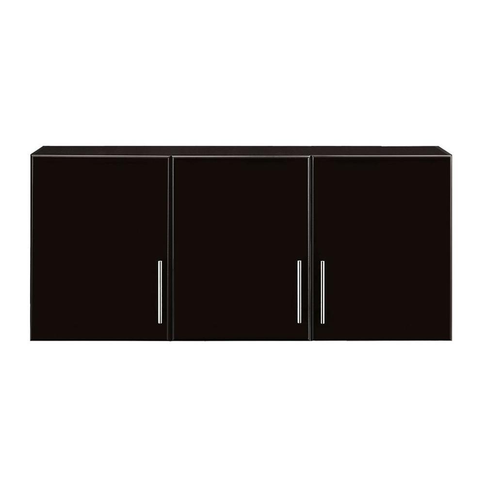 Hampton Bay 12 In D X 54 In W X 24 In H 3 Door Wall Cabinet Wood