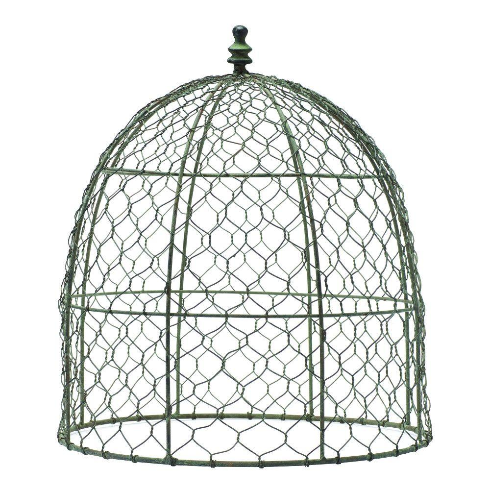 Home decorators collection 14 5 in wire cloche 9306700270 for Garden cloche designs