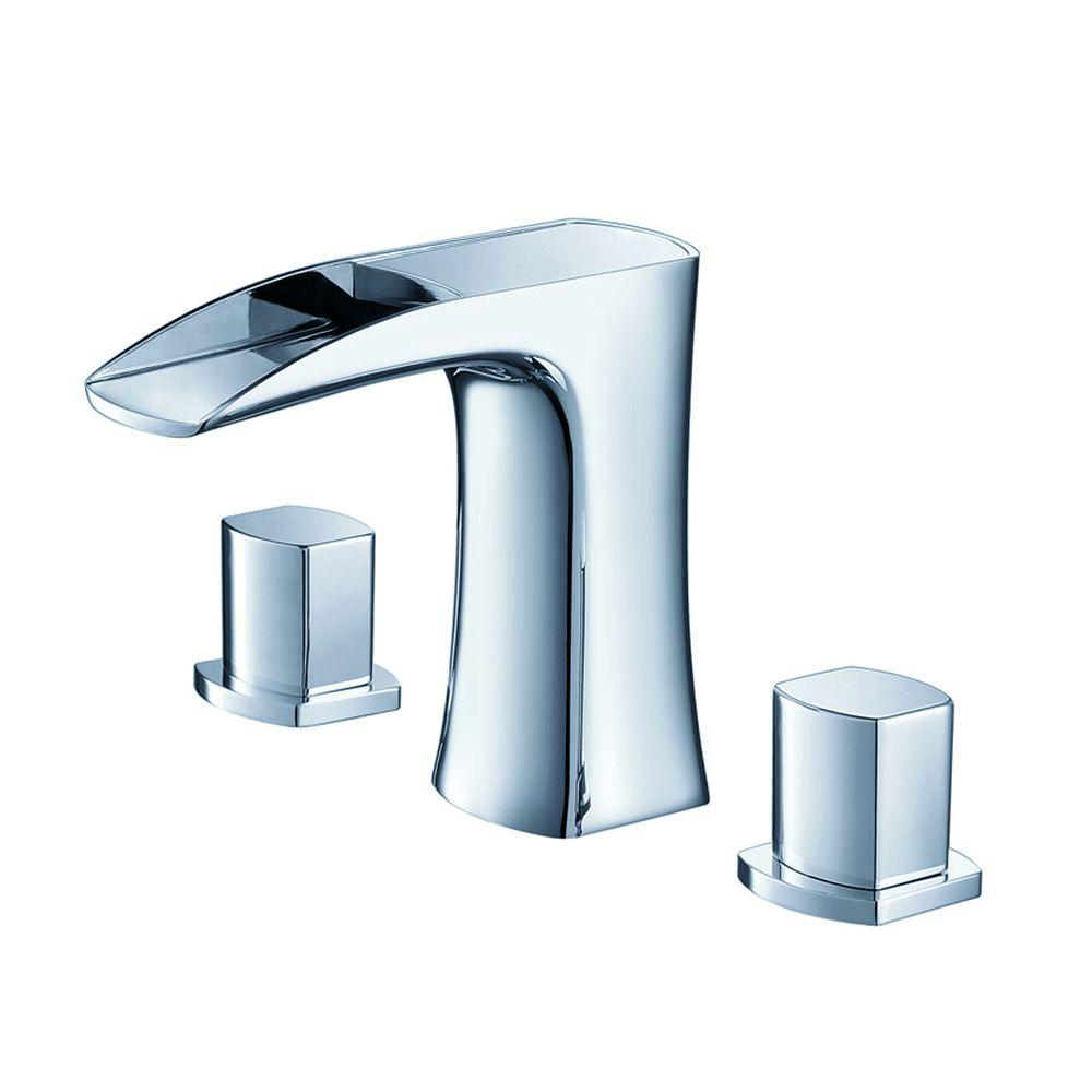 Fresca Fortore 8 in. Widespread 2-Handle Low-Arc Bathroom Faucet in Chrome