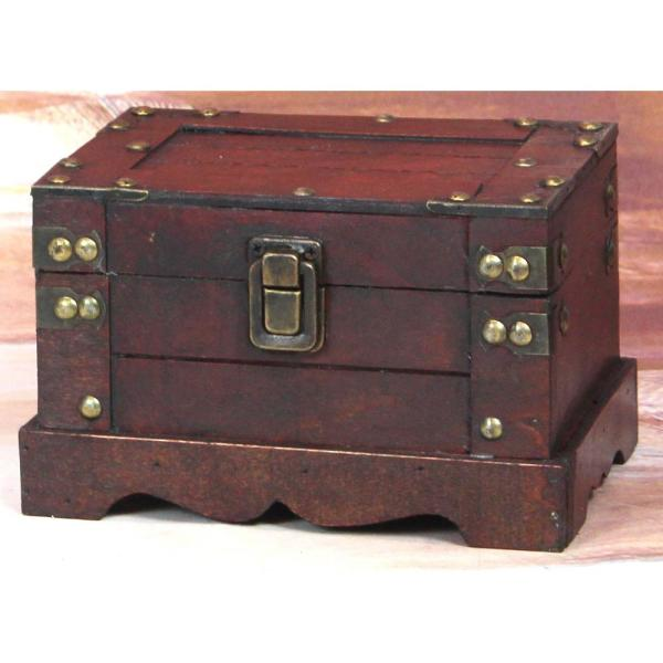 Vintiquewise Antique Small Cherry Trunk QI003075.S