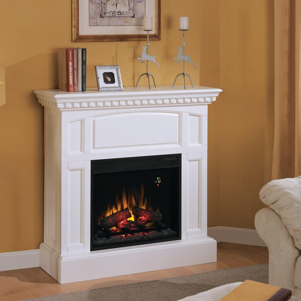 Charmglow 23 in. Electric Fireplace in White-DISCONTINUED