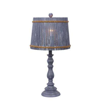 24.5 in. Grey Resin Table Lamp