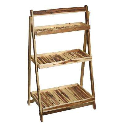 27 in. x 45 in. Acacia Wood Plant Stand