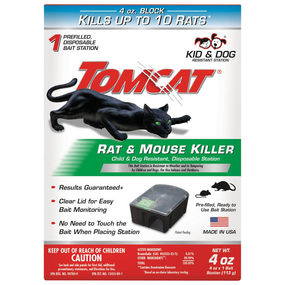 Tomcat Tomcat Rat and Mouse Killer Child and Dog Resistant, Disposable  Station
