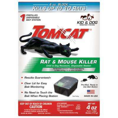 Tomcat Rat and Mouse Killer Child and Dog Resistant, Disposable Station
