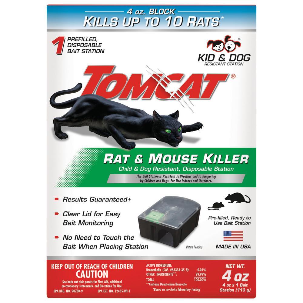 Rat and Mouse Killer Child and Dog Resistant Disposable Station, 1 Preloaded Station