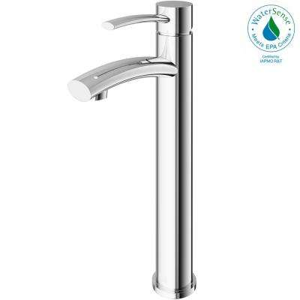 Milo Single Hole Single-Handle Vessel Bathroom Faucet in Chrome