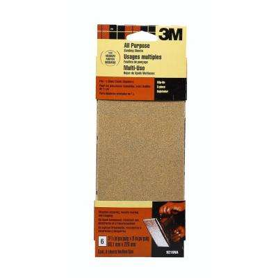 3-2/3 in. x 9 in. 100 Grit Medium Aluminum Oxide 1/3 Clip-on Sheets ((6-Pack) (Case of 30))