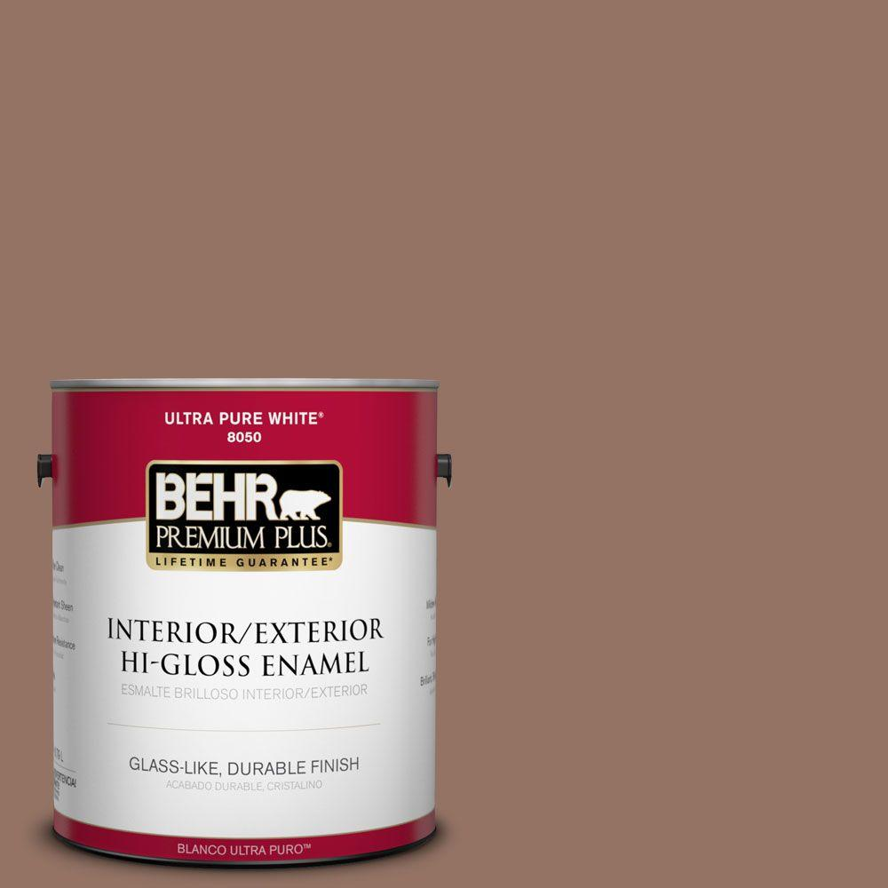 1-gal. #BXC-84 Corral Brown Hi-Gloss Enamel Interior/Exterior Paint