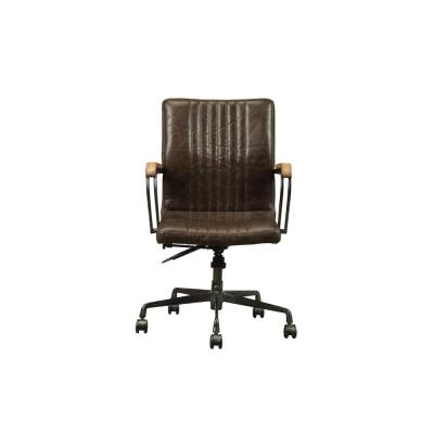 Joslin Distressed Chocolate Top Grain Leather Executive Office Chair