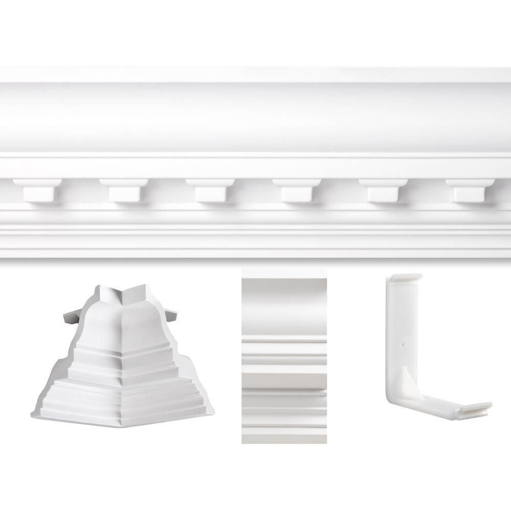 20 ft. x 20 ft. Concord Dentil Crown Moulding Room Kit