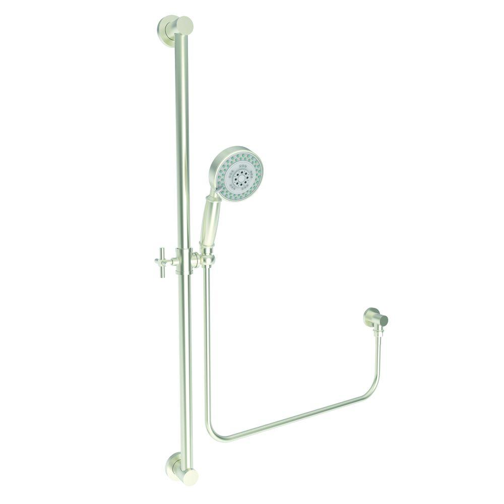 Newport Tub and Shower 3-Function Wall Bar Shower Kit Shower in Satin Nickel