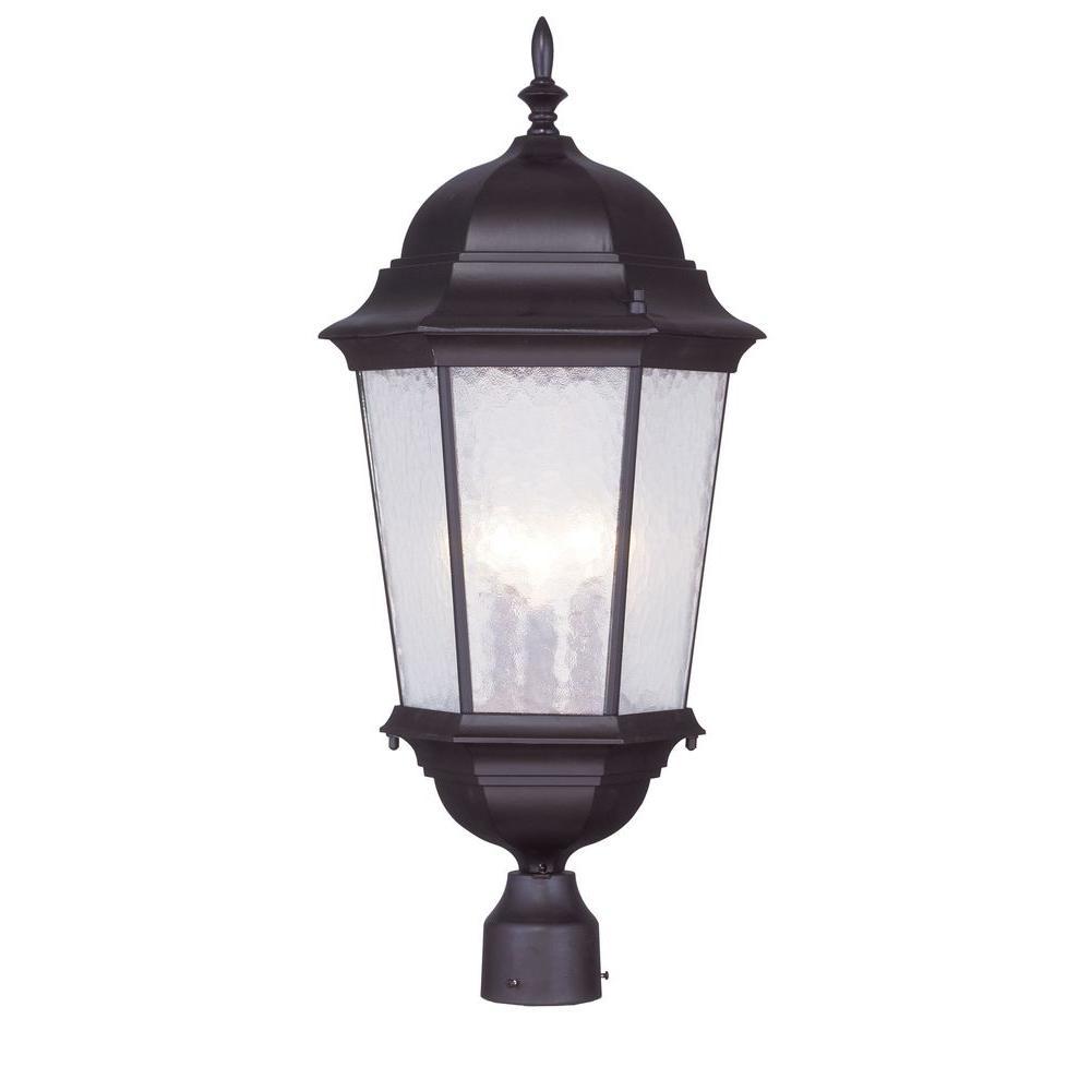 Providence 3-Light Outdoor Bronze Incandescent Post Head Light