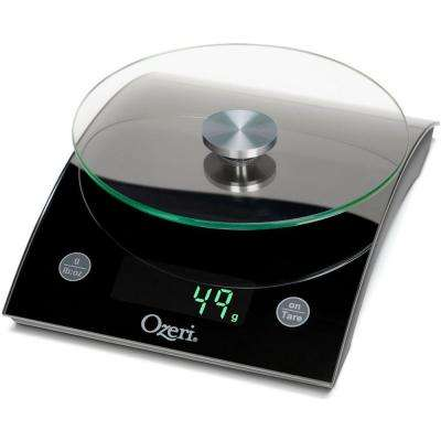 Epicurean 18 lbs. LED Kitchen Scale, with Removable Glass Weighing Platform