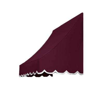 6 ft. Nantucket Awning (31 in. H x 24 in. D) in Burgundy