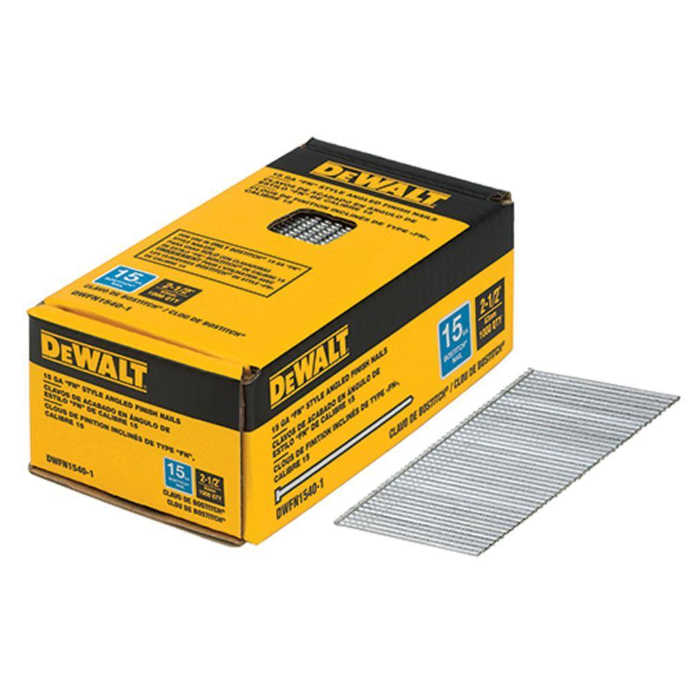 2-1/2 in. x 15-Gauge Glue Bright Steel Angled Finish Nails (1,000 per Box)