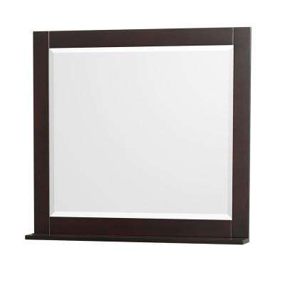 Centra 36 in. W x 32 in. H Framed Wall Mirror in Espresso