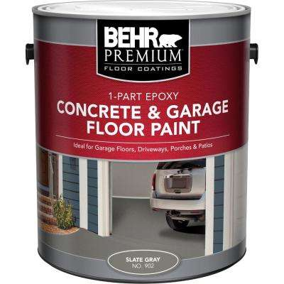 902 Slate Gray 1 Part Epoxy Concrete And Garage Floor Paint