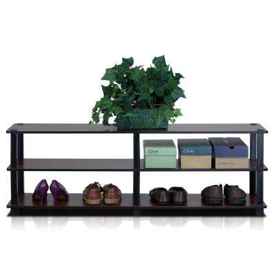 Turn-S-Tube Dark Cherry 3-Shelf Wide Multipurpose Rack