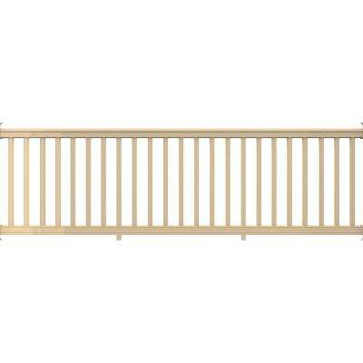 Premier Series 10 ft. x 36 in. Wicker Vinyl Rail Kit with Square Balusters