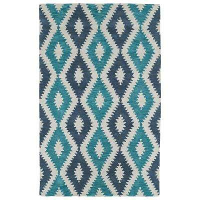 Lakota Turquoise 3 ft. 6 in. x 5 ft. 6 in. Area Rug