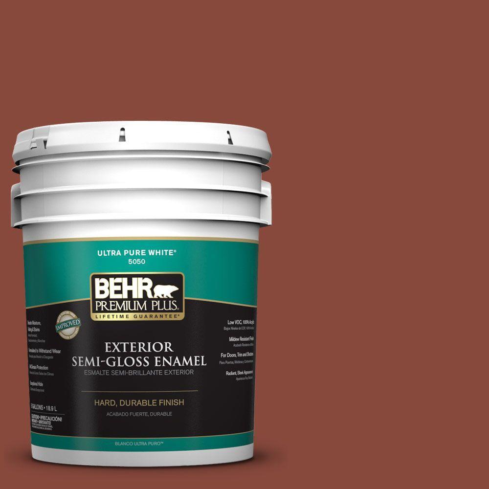 BEHR Premium Plus 5-gal. #PMD-42 Mission Tile Semi-Gloss Enamel Exterior Paint