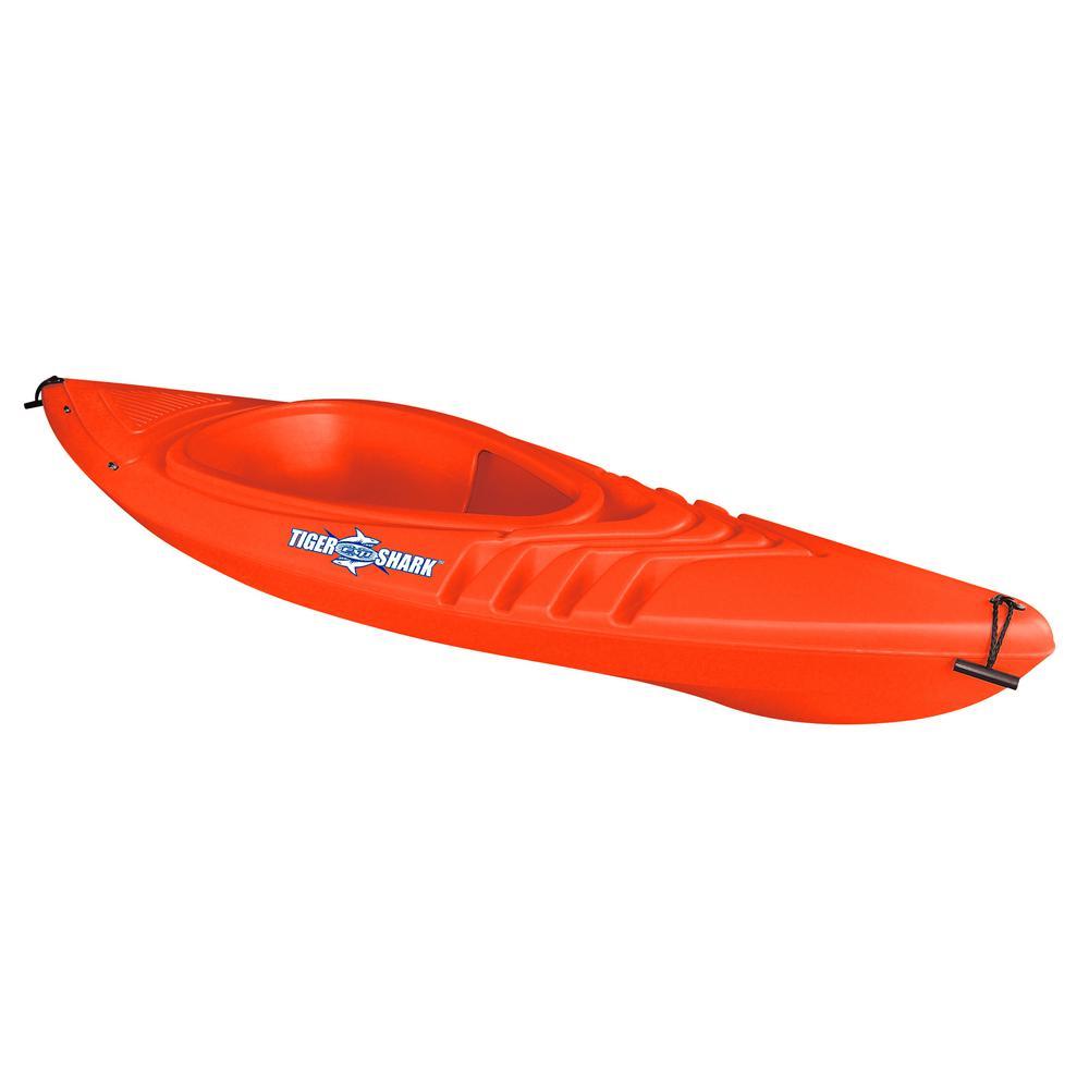 Tiger Shark Series 9 ft. Orange Sit-in Kayak with Dry-Ride Wave Breaker Design