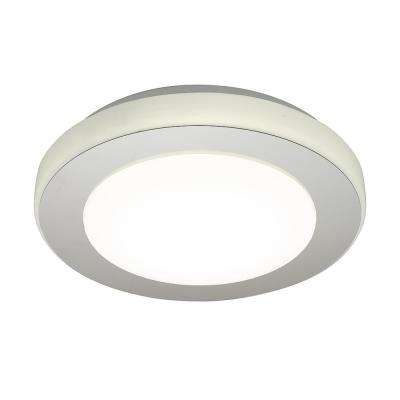 LED Carpi 60-Watt Chrome Integrated LED Semi-Flushmount