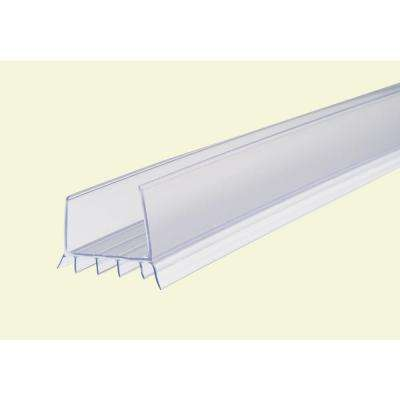 2.375 in. x 36 in. Clear Cinch Slide-On Door Seal